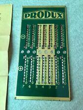 Vintage Calculateur rekenmachine PRODUX calculator complete + instructions + pen