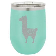 Stemless Wine Tumbler Coffee Travel Mug Glass Cute Llama