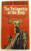 The Fellowship Of The Ring Paperback Book J.R.R. Tolkien 1965 Red Cover Vintage