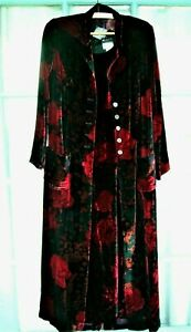 MONSOON NEW with tags  Silk Velvet Coat and Dress 14 Patterned- need to be tall!