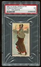 """1890 N80 Duke's Holiday """"Forefather's Day, U.S."""" PSA 5 EX Cert #22985092"""