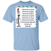 T-Shirt anti-mask cat and the hat i will not wear the stupid mask liberty tyr...
