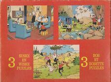 BOB et BOBETTE SUSKE EN WISKE boîte 3 puzzles 63 pièces 1977
