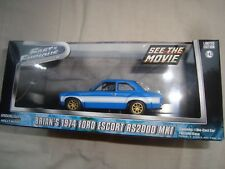 BRIAN'S 1974 FORD ESCORT RS 2000 MK 1   Film FAST AND FURIOUS 6  1/43 greenlight