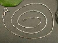 Tolle 925 Sterling Silber Kette Venezianerkette Vierkant Glieder RWG Signiert