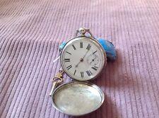 waltham fob watch sterling silver .925 pure Birmingham 1863, with key, quality