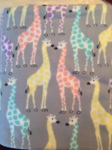 Custom polar fleece throw - giraffe
