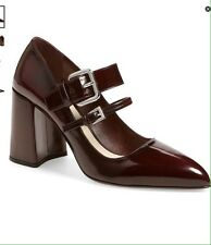 SOLD OUT PRADA BLOCK HEEL ALMOND TOE TWO BUCKLE MARY JANE PUMP  SIZE IT 38 1/2