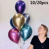 Metallic Balloons Bouquet Pearl Ballon Wedding Birthday Party Supplies-