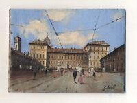Quadro olio tela GUIDO BORELLI Palazzo Reale Torino 13x18 cm Peinture