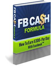 Facebook Cash Formula Course on CD w/videos