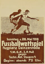 FOOTBALL Vintage German Football Poster, 1918, 250gsm A3 Sports Poster