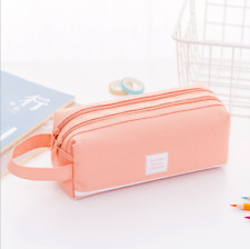 Large Capacity Double-deck Pencil Case Pen Box School Stationery Cosmetic Bag