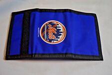 NEW New York Mets Multi-Color Velcro Close Tri-Fold Wallet MLB Baseball 2002