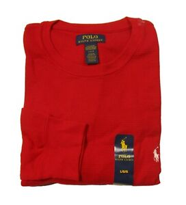 Polo Ralph Lauren Men's Solid Waffle Knit Thermal Crew-Neck Long Sleeve T-Shirt