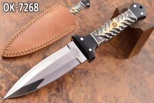 "9.4"" KMA mirror polished 52100 bearing full tang Smatchet blade knife OK-7268"