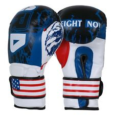 Ard® Art Leather Boxing Gloves Fight Punching Mma Muay Thai Kickboxing Us Flag