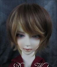 Bjd Doll Wig 1/3 8-9 Dal Pullip AOD DZ AE SD DOD LUTS Dollfie brown blonde Hair