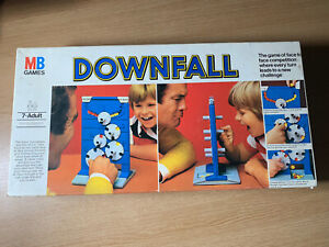 MB GAMES DOWNFALL VINTAGE RETRO BOARD GAME 1977 RARE LONG BOX **INCOMPLETE