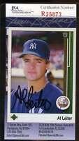Al Leiter 1989 Fleer Jsa Coa Hand Signed Authentic Autographed Yankees