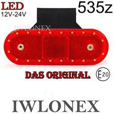 LED Umrissleuchte Markierungsleuchte Rot Positionsleuchte 12V 24V ABE 535z