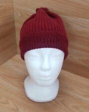 Woolen Hat Beanie Winter Warm  Red Marl Made in Scotland Mens #1
