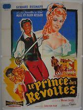 Affiche Cinéma PRINCE DES REVOLTES 1956 JACOBS Riedmann Kessler - BELINSKY