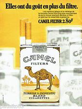 PUBLICITE ADVERTISING 016  1971  CAMEL   cigarettes