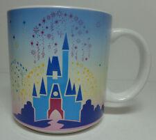 Vtg Walt Disney World Coffee Mug Mickey Cinderella's Castle Cup Ceramic Glass