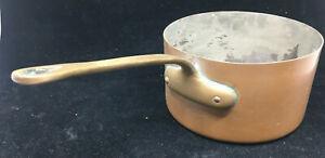 Sauce Pan Pot Bazar Francais New York 666 16 Copper Vintage French Cooking Pan