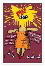 "Cuban decor Graphic Design movie Poster for""PLAF.Egg in face""Funny Woman.Art"