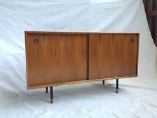 122cm Teak Sideboard/ Record Cabinet 2-tone -  Retro Mid Century Eames Style