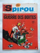 SPIROU n° 1536  VUILLEMIN ET NIVELLE (5p) + MINI RECIT 380 + COVER FRANQUIN