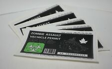 """6 Pack The Green  """"Zombie Assault Vehicle Permit"""""""