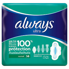 Always Ultra Normal Plus Sanitary Towels With Wings - 14 Pads