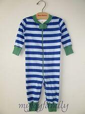 HANNA ANDERSSON Baby Organic Zip Sleeper Blue Sea Sky Stripe 50 0-6 months NWT