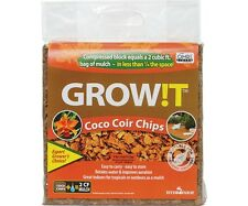 GROW!T Organic Coco Coir Planting Chips, Block SAVE $$ W/ BAY HYDRO $$