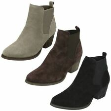 Leather Cuban Heel Pull On Boots for Women