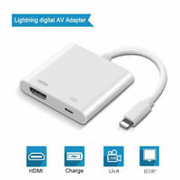 Lot Lightning To HDMI Cable Digital AV TV Adapter For iPhone 6 7 8 X iPad Pro