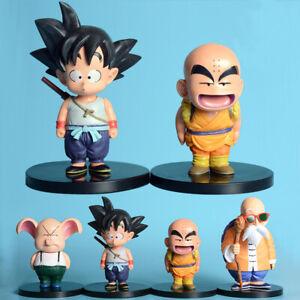 Dragon Ball Z Childhood Son Goku Krillin Master Roshi Oolong Pig DBZ Figurine