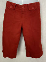 Lacoste Women's cotton Bermuda shorts  size 4 (36) Red Pockets Belted