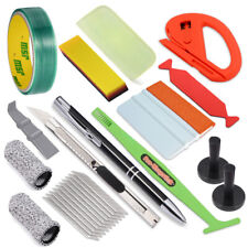 Vehicle Vinyl Wrap Tool Kit PPF Squeegee Knifeless Line Tape Air Release Tools