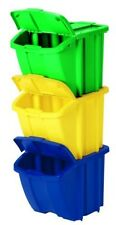 Recycle Bin Kit Pack Open Lid Recycling Environment Bins Container Trash Suncast