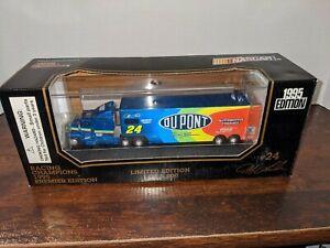 Jeff Gordon No. 24 DuPont 1996 1:87 Scale Premier Edition Die Cast Transporter