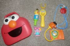 sesame street Elmo Medical Dr Kit  mattel red carry case elmo face big bird Bert
