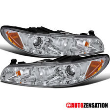 For 1997-2003 Pontiac Grand Prix Clear LED Dual Halo Rims Projector Headlights