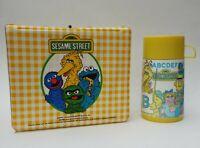 Sesame Street Kids School Vinyl Lunch Box w/ Thermos Aladdin 1981