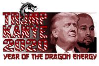 DONALD TRUMP KANYE WEST DRAGON ENERGY SHIRT TWEET TWITTER 2020 PRESIDENT TSHIRT