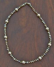 Sterling Silver & Peacock Color Freshwater Pearl  Necklace