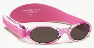 Baby Banz ADVENTURER SUNGLASSES PINK CAMO 0-2YRS 100% UVA UVB Sun Protection BN